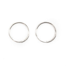Silver Endless Hoops 9-20mm