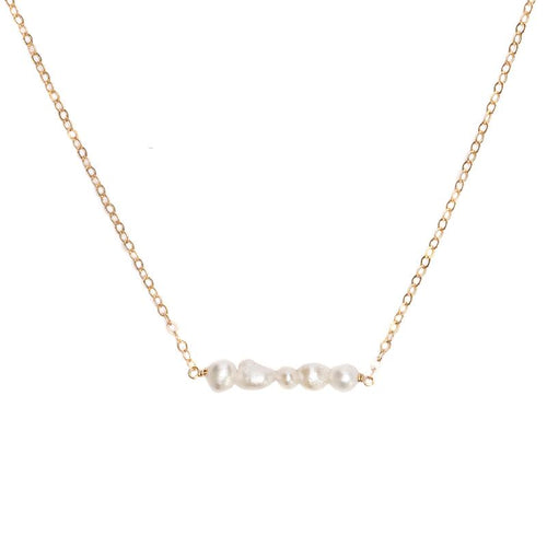 String of Pearls Gold Necklace