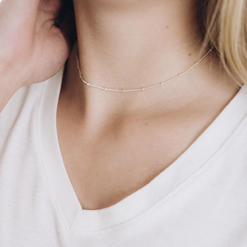 Satellite Shorty Necklace - Sterling Silver