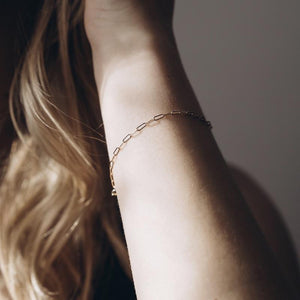 "Super Dainty Chain Link Bracelet 5x2mm - 7"" - Gold"