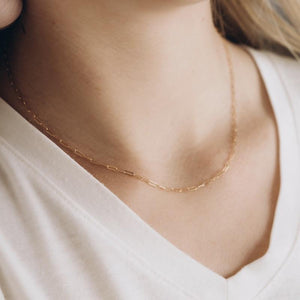 Super Dainty Gold Paper Clip Chain