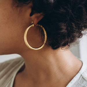 Gold Bold Hoops 30-50 mm