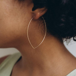 Marquis Hoop Earrings