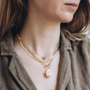 Initial Reflection Gold Necklace