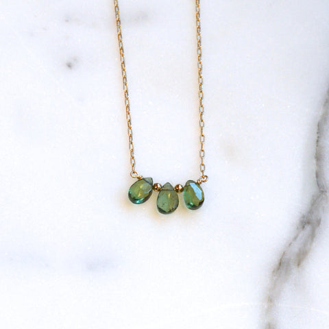 Apatite Crystal Choker Necklace