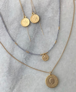 Threader Coin Earrings