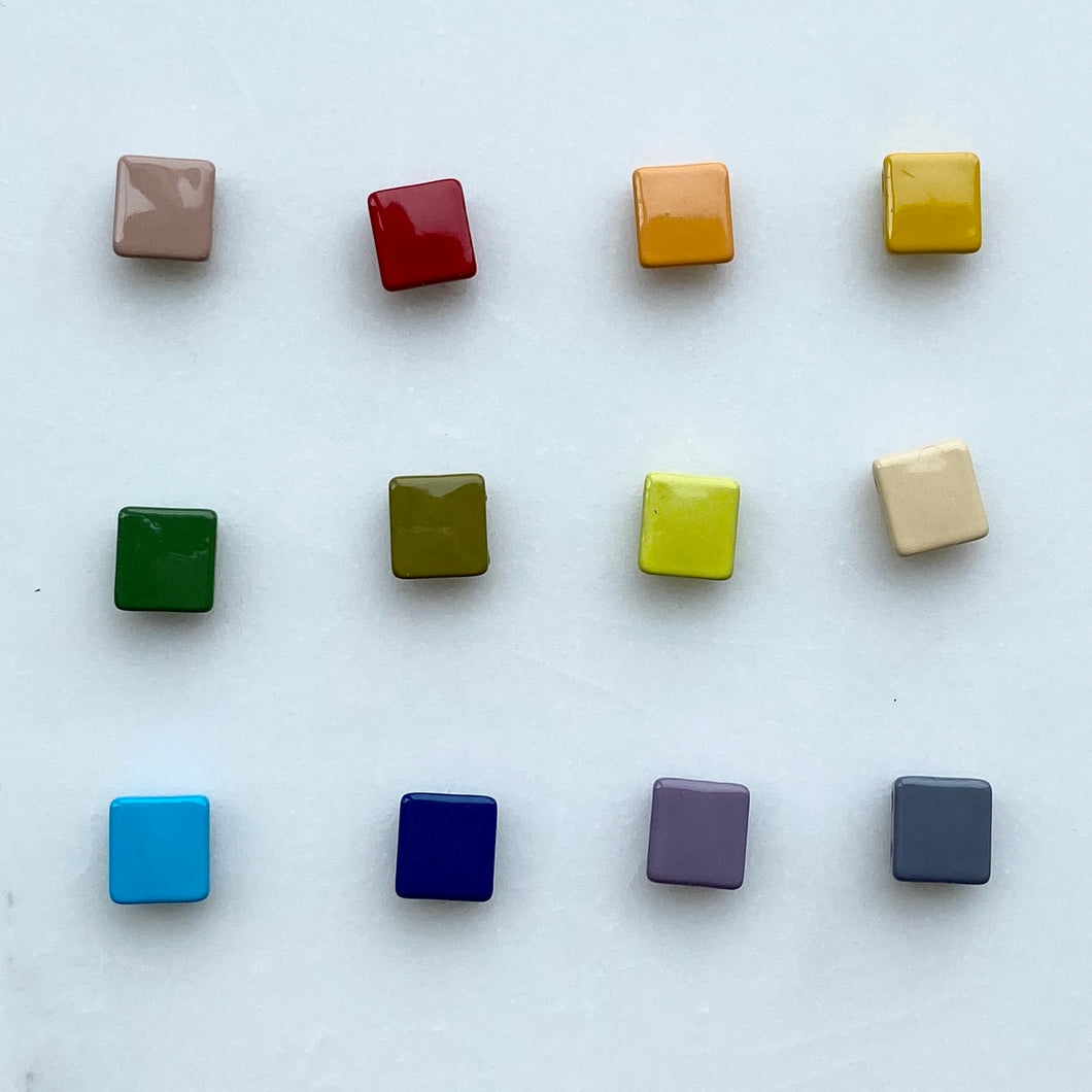 Square Enamel Tile Beads