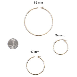 Thin Gold Hoops 34-64mm
