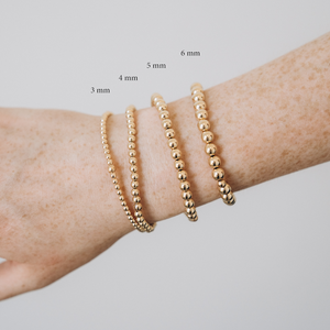 Gold Beaded Bracelets - 4 Sizes Available