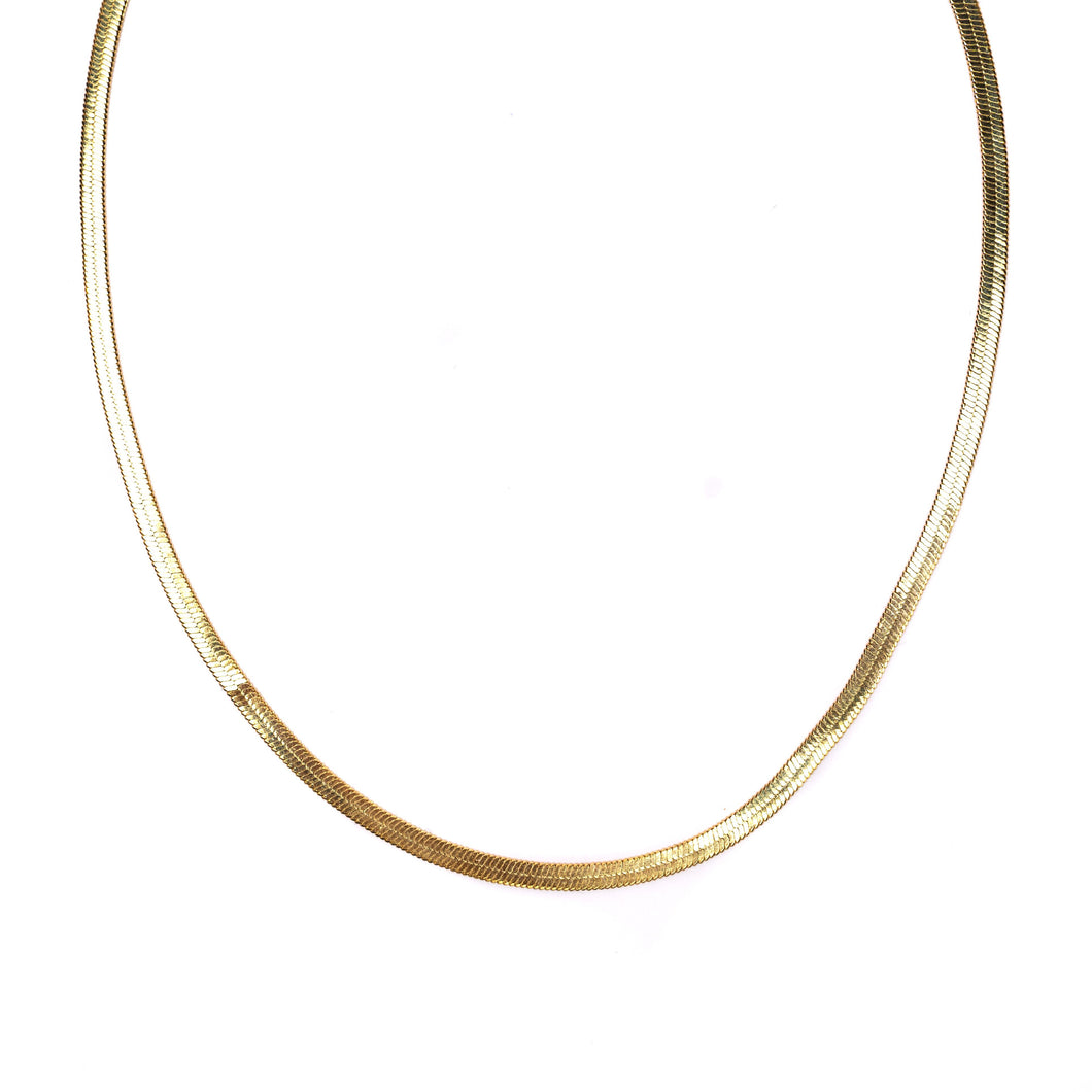 Herringbone Gold Necklace