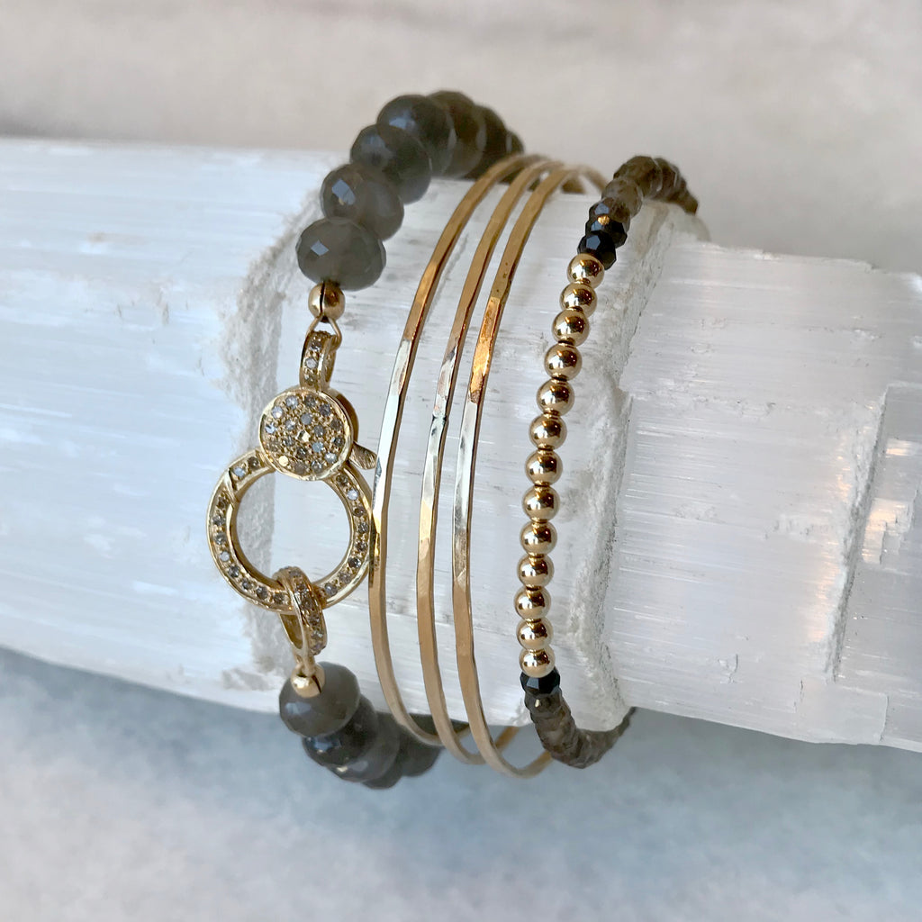 Diamond & Moonstone Bracelet