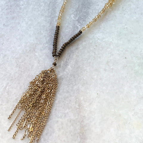 Citrine Fringe Necklace