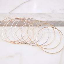 Simple Hammered Bangles