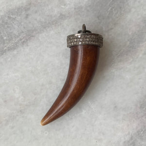 Diamond Capped Horn Pendant