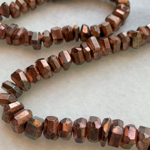 Faceted Copper Pyrite Strand
