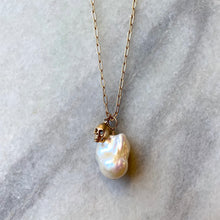 Baroque Pearl & Skull Necklace