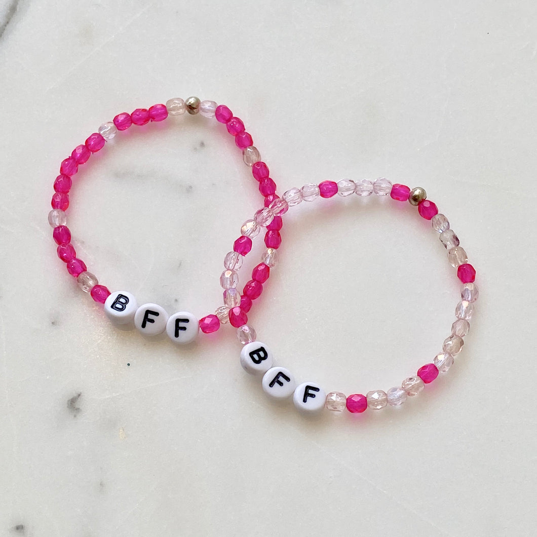 Elastic Bracelet Project with Letters