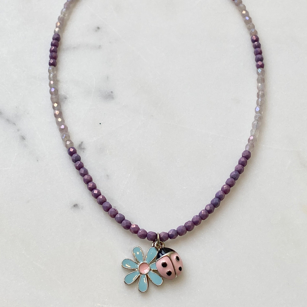 Crystal Necklace Project with Charms