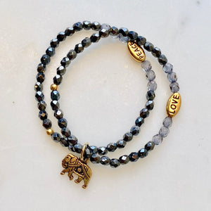 Elastic Bracelet Project with Charms