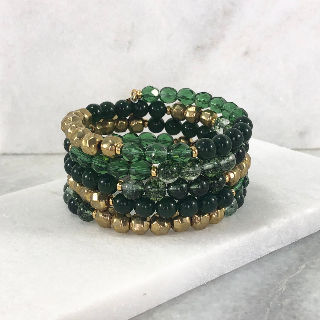 Gemstone Memory Wire Bracelet Project