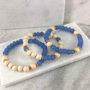 Wood and Glass Elastic Bracelet Project