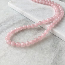 Faceted Rose Quartz Bead Strand