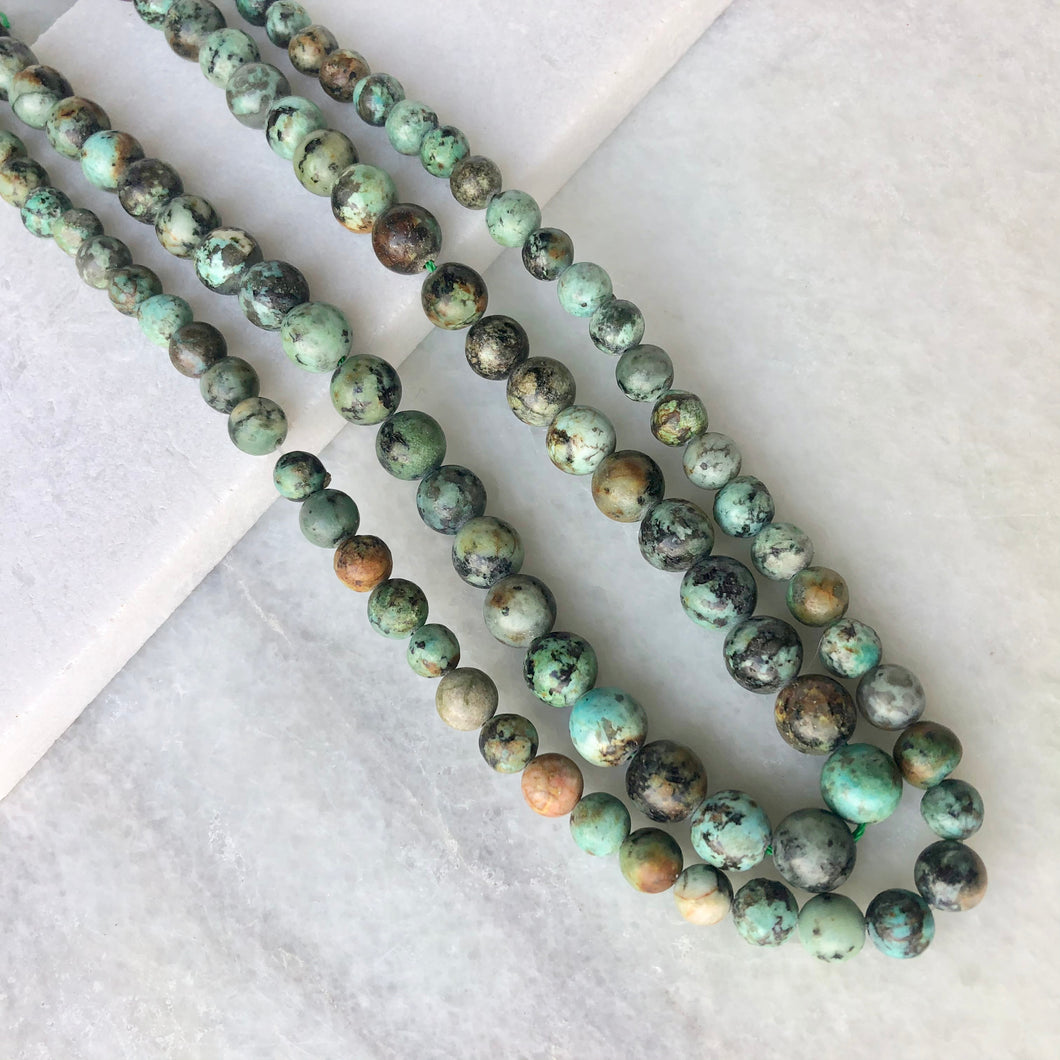 African Turquoise Bead Strand