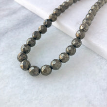 Faceted Pyrite Bead Strand