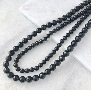 Faceted Onyx Bead Strand