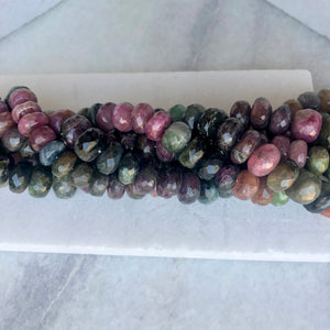 Faceted Tourmaline Bead Strand 9-11mm