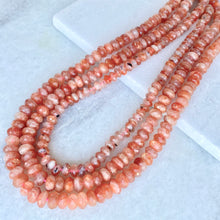 Faceted Sunstone Bead Strand 6-8mm