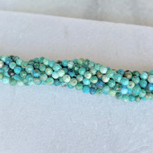 Faceted Chrysocolla Bead Strand 3mm