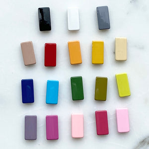 Large Rectangle Enamel Tile Beads