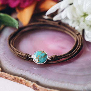 Triple Love Turquoise Gemstone Bracelet For