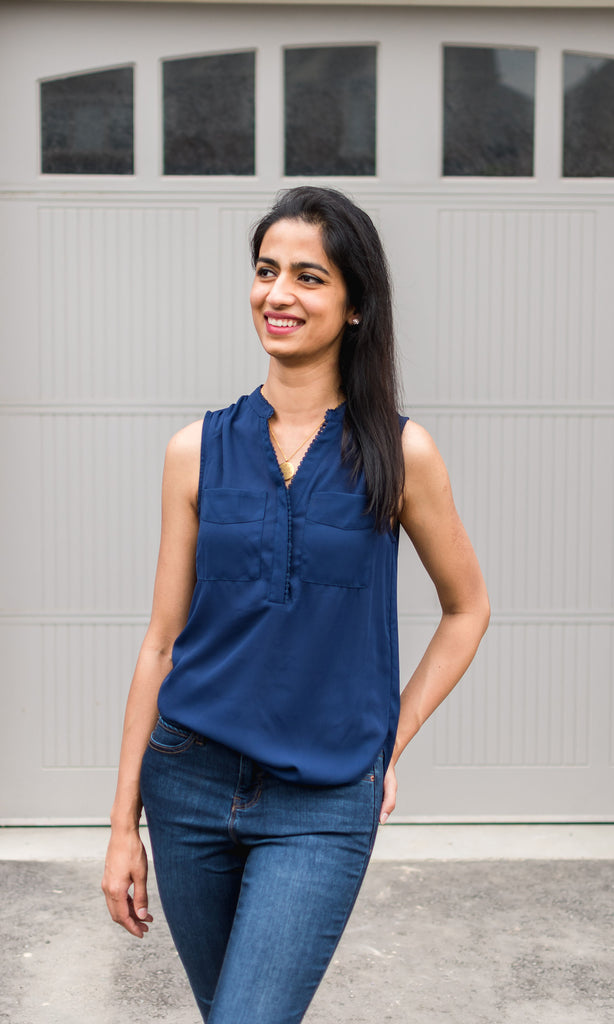 Sleeveless Blouse