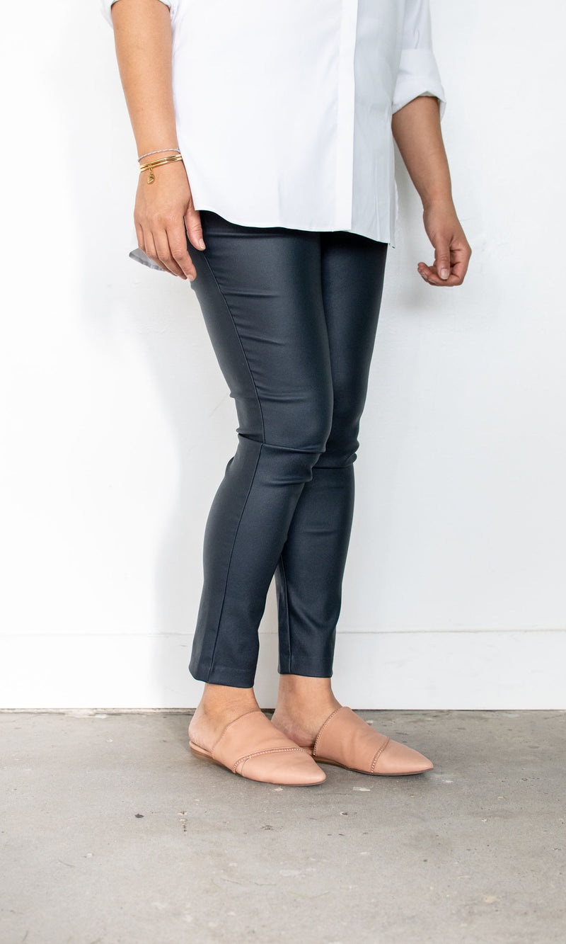 Vicky High Waisted Waxed Pant