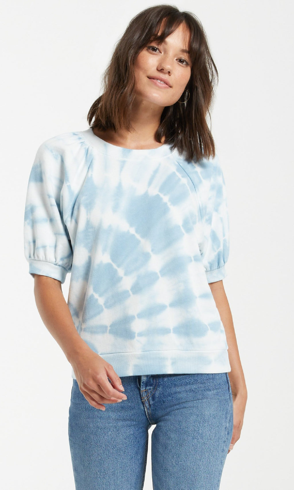 Gianna Tie Dye Puff Sleeve Top