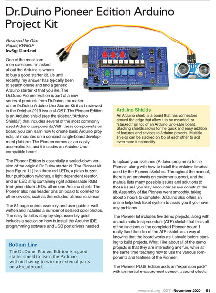 Dr.Duino Pioneer Reviewed IN QST Magazine!