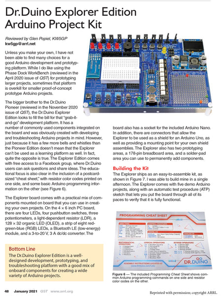 Dr.Duino Explorer Reviewed IN QST Magazine!