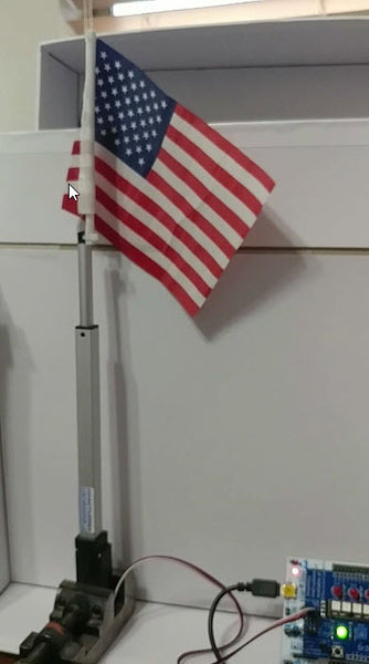 Customer Project By Jerry P. American Flag Raising MACHINE!