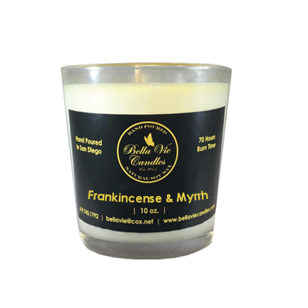Frankincense and Myrrh Scented Holiday Soy candle