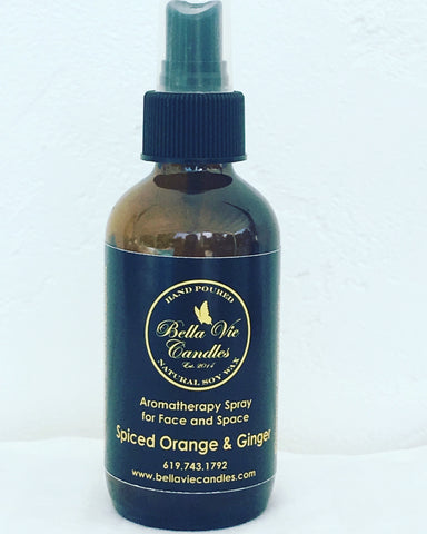 Spiced Orange & Ginger Aromatherapy Essential Oil Spray