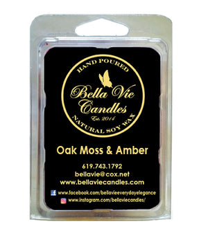 Oak Moss & Amber Scented Soy Candle