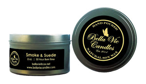 Smoke And Suede Original Scented Soy  Candle
