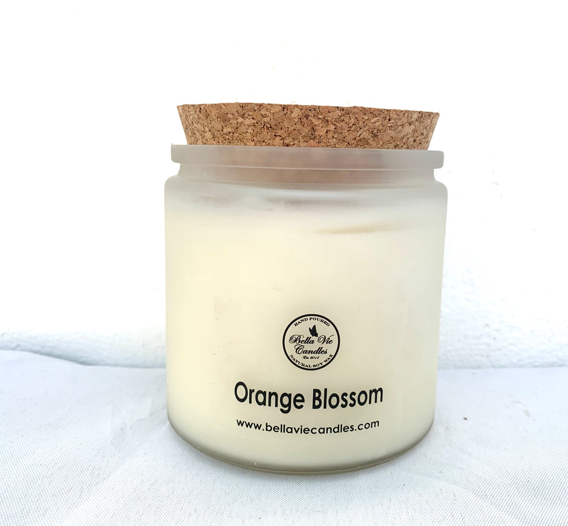 Orange Blossom Scented Soy Candle