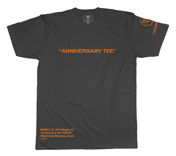 """STORE ANNIVERSARY"" TEE - BLACK - Made4Mankind Clothing"
