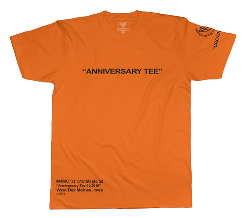 """STORE ANNIVERSARY"" TEE - ORANGE - Made4Mankind Clothing"