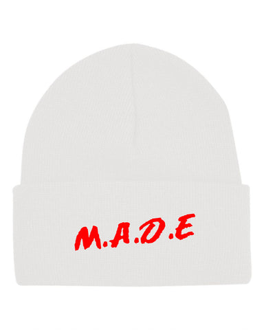 MADE BEANIE  - WHITE - Made4Mankind Clothing