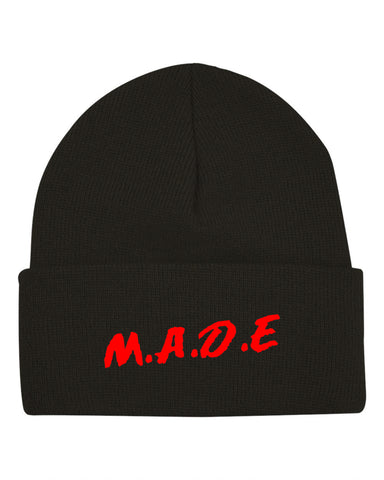 MADE BEANIE  - BLACK - Made4Mankind Clothing