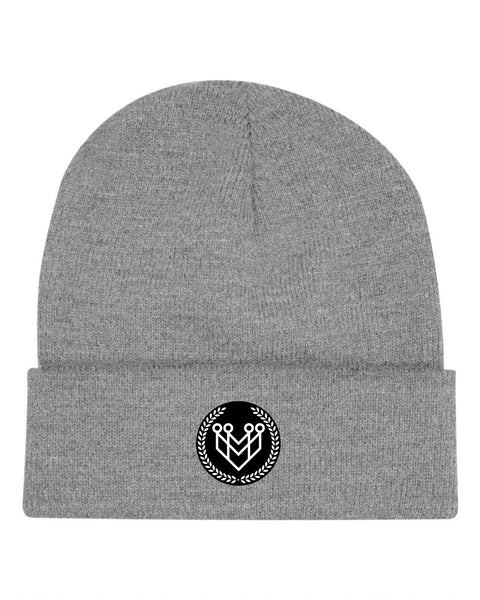 CLASSIC LOGO BEANIE - GREY - Made4Mankind Clothing
